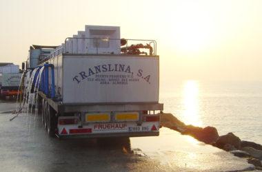 transporte de alevinos camiones